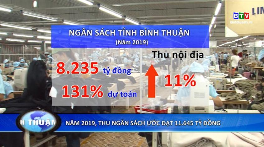 Năm 2019: Bình Thuận thu ngân sách ước đạt 11.645 tỷ đồng