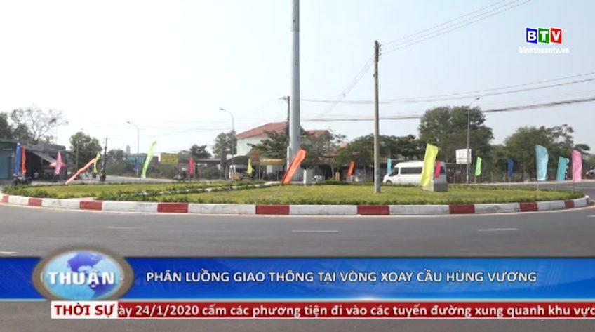 Phân luồng giao thông tại vòng xoay cầu Hùng Vương - Phan Thiết