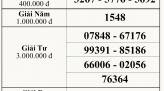 Kết quả xổ số kiến thiết tỉnh Bình Thuận ngày 15.04.2021